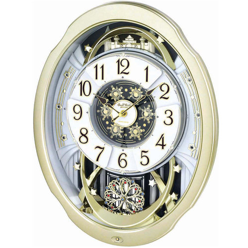 Rhythm 7842 Wanduhr MAGIC MOTION bewegliches Zifferblatt Melodien